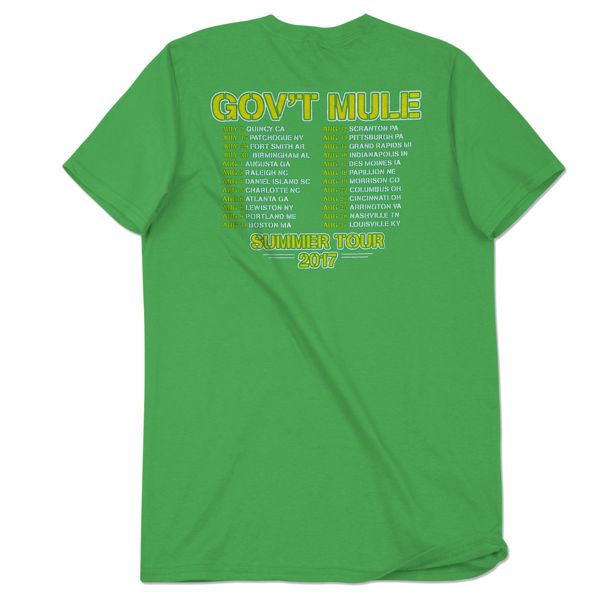 "Green ""Rev Come..."" 2017 Summer Tour Shirt"