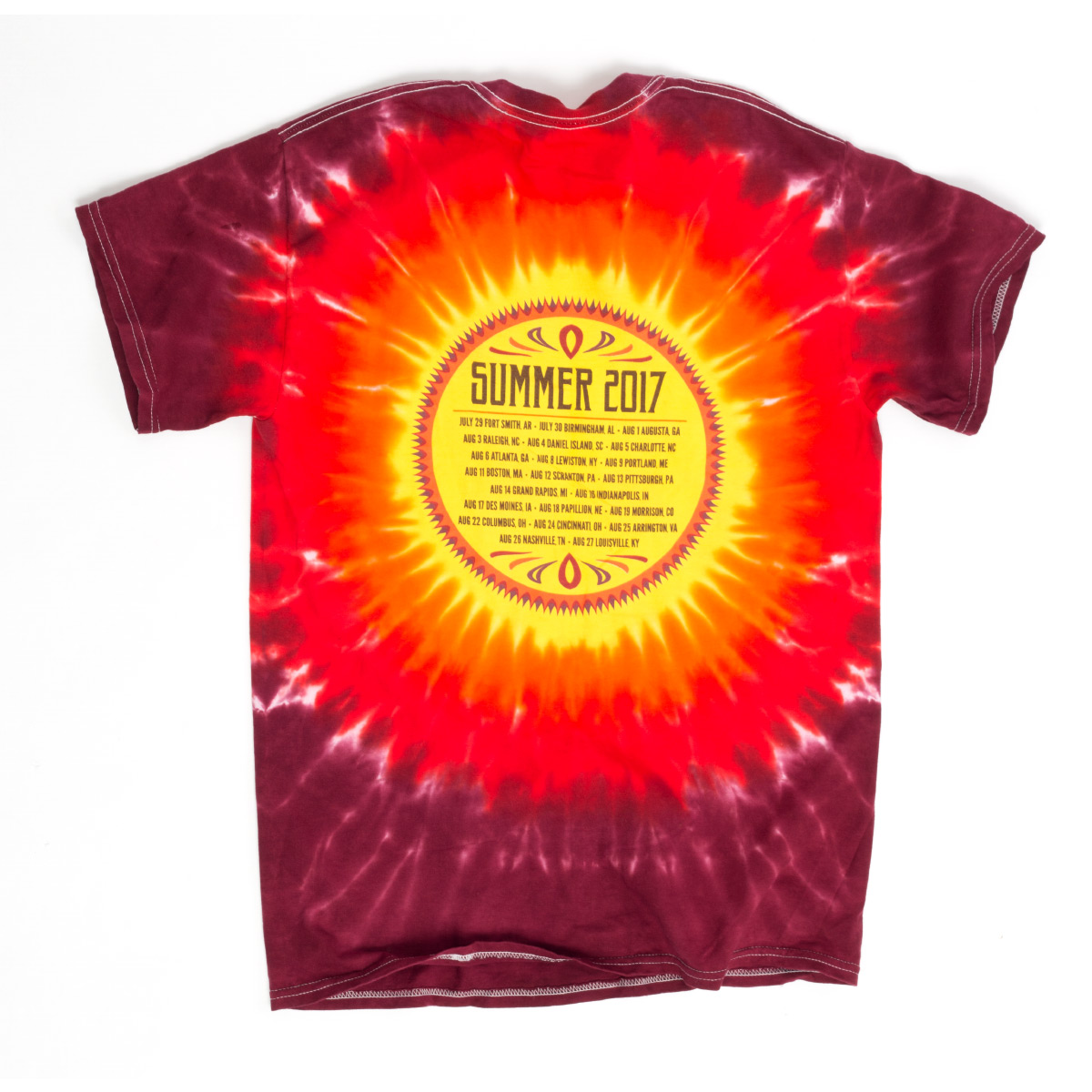Sugar Skull Summer 2017 Red Tie Dye Shirt