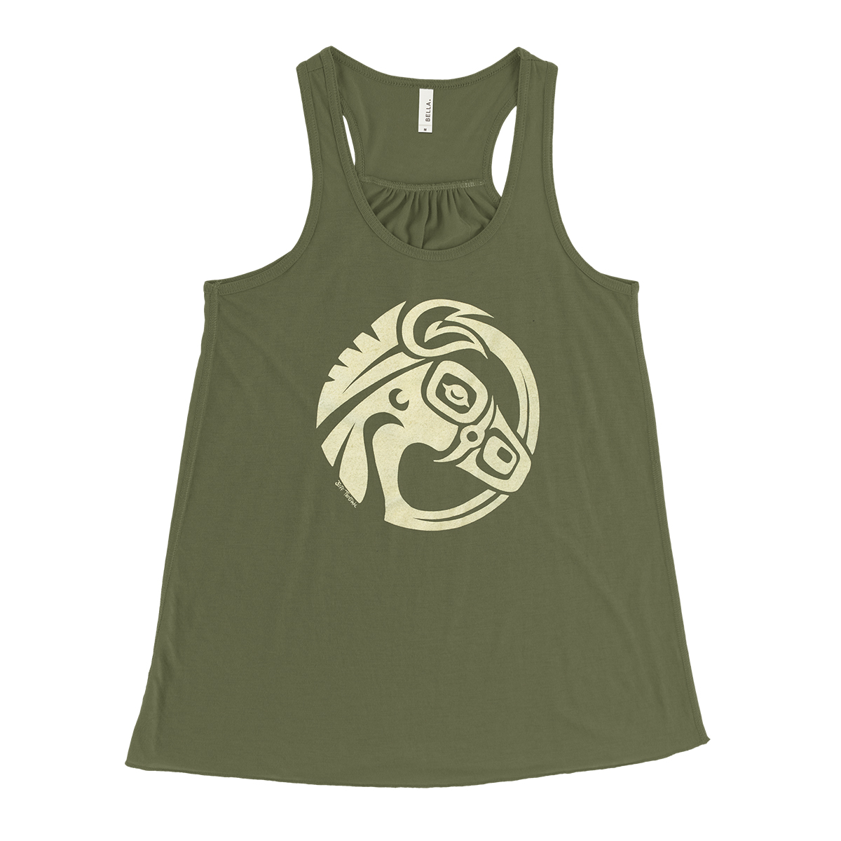 Green Mulehead Ladies Tank Top