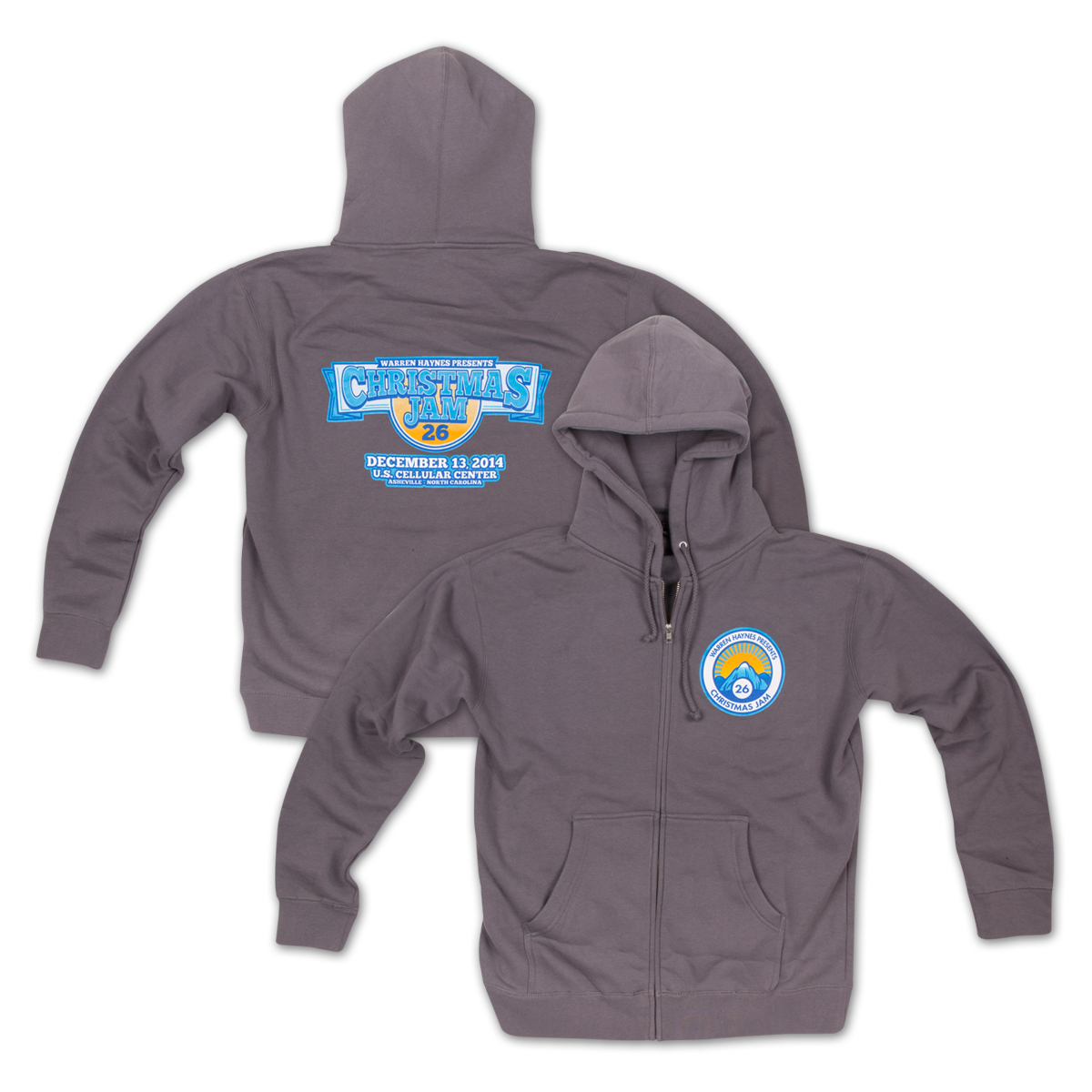 Warren Haynes Christmas Jam 26 Zip-Up Hoodie
