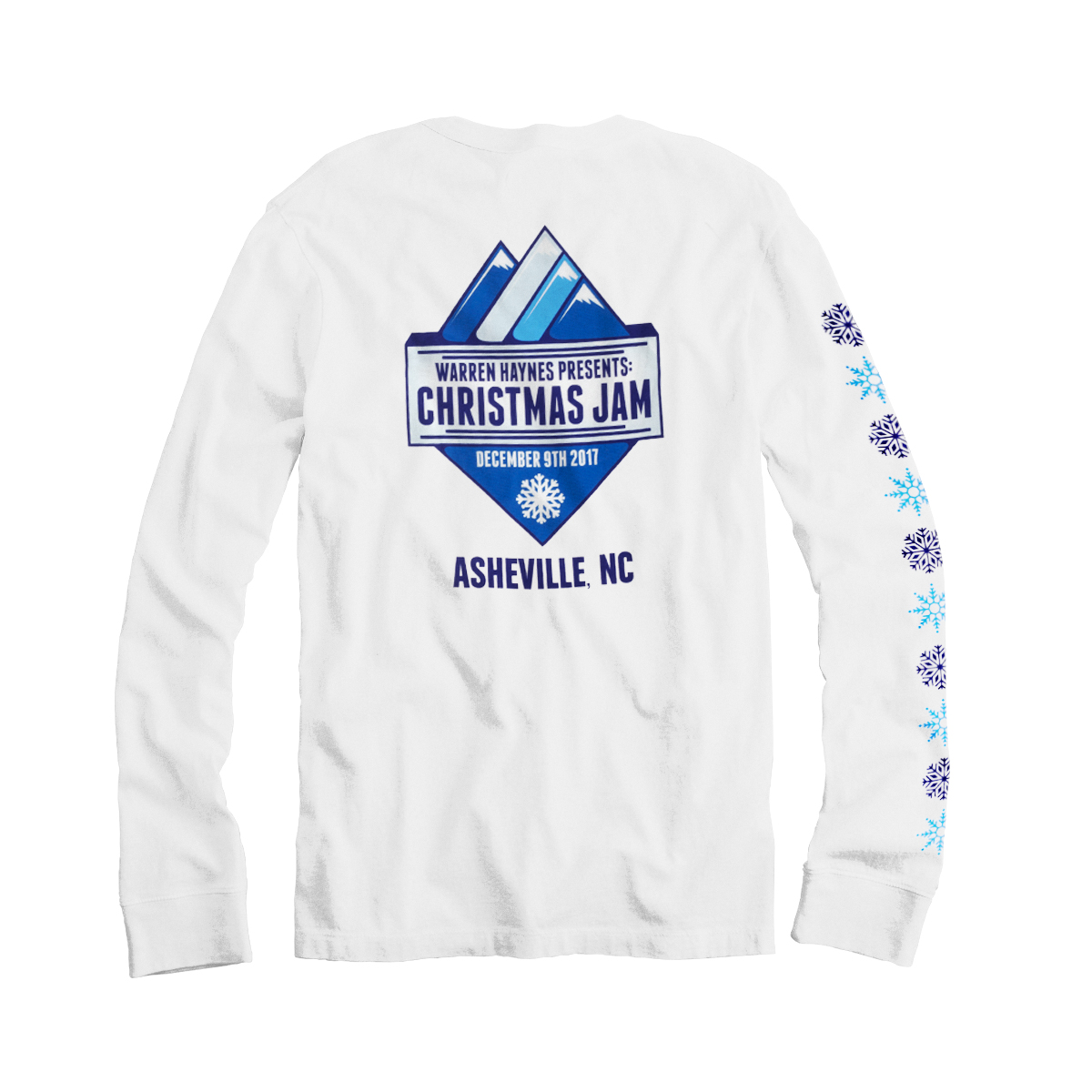 2017 Christmas Jam White Long Sleeve