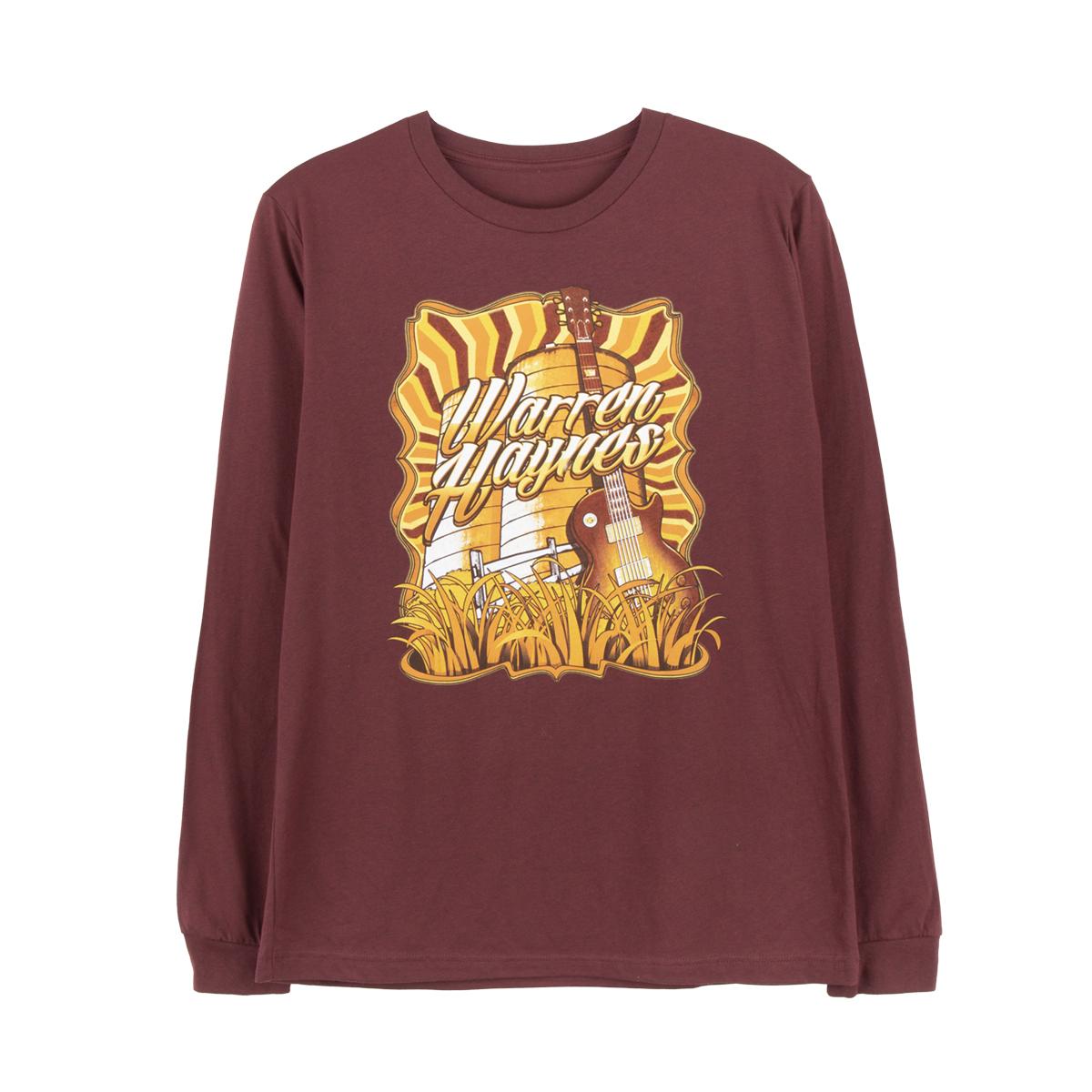 Faux Tour 2020 Maroon Long-Sleeve T-Shirt