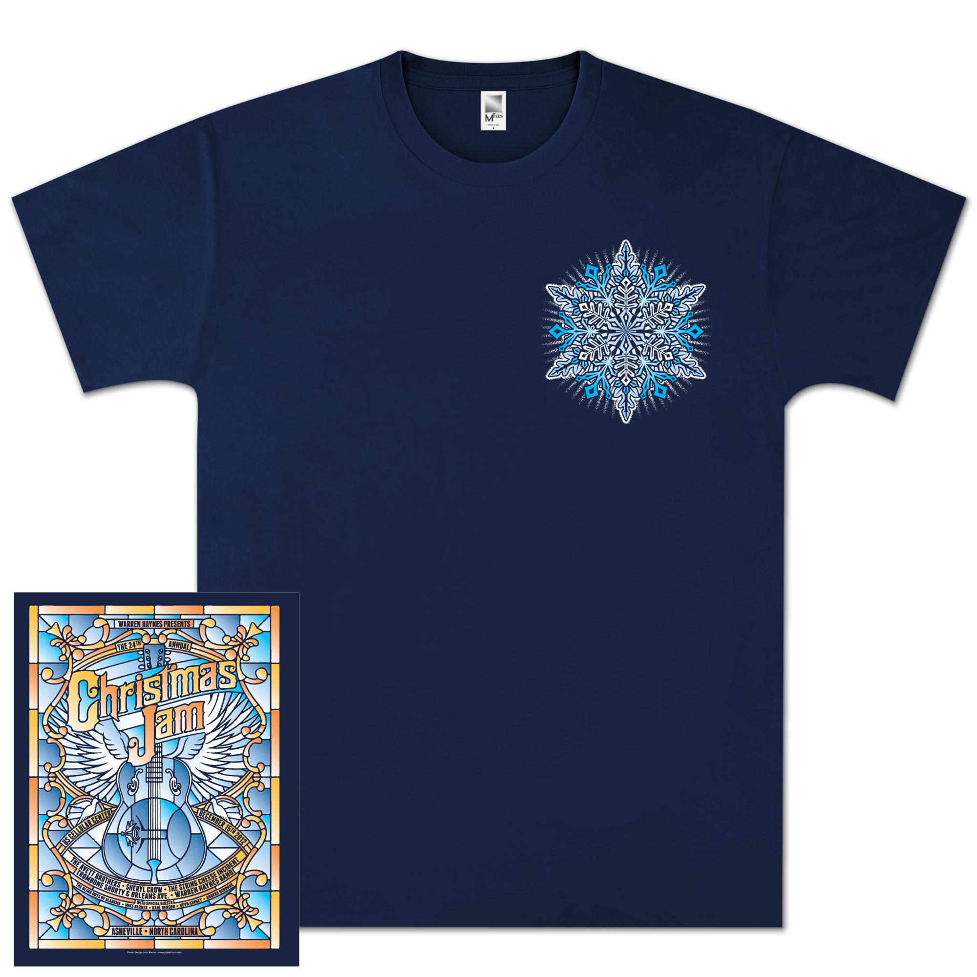 "Warren Haynes 2012 Xmas Jam ""Stained Glass"" Shirt"