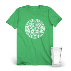 Classic Quattro Dose Logo T-Shirt & Pint Glass Bundle