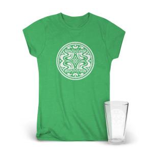 Classic Dose Logo Women's T-Shirt & Pint Glass Bundle