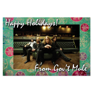 Gov't Mule Holiday Card Signed by Warren Haynes