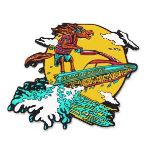 Jet Skiing Mule Island Exodus Pin