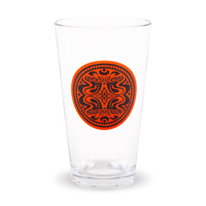 Red & Black Quattro Dose Pint Glass
