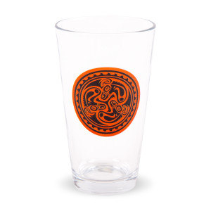 Red & Black Tri Dose Pint Glass