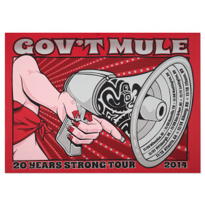 Gov't Mule 2014 Fall Tour Poster