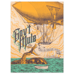 Gov't Mule New Orleans Saenger Theatre 2015 Poster