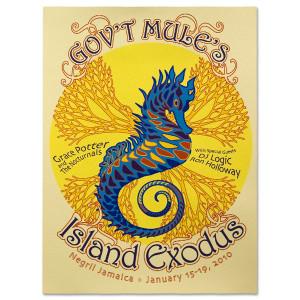 Gov't Mule 2010 Island Exodus Event Poster