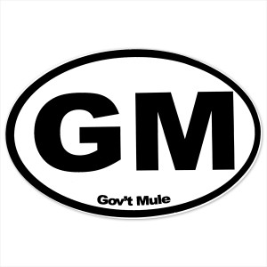 Gov't Mule Oval GM Sticker