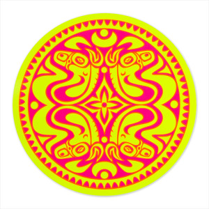 Neon Yellow & Pink Sticker