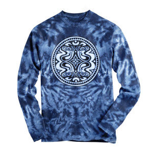 Dose Logo Long Sleeve Tie-Dye Shirt