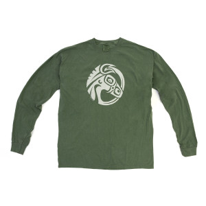 Long Sleeve Green Pigment Dye