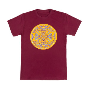 Maroon Beaded Dose Logo T-Shirt