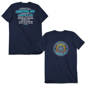 Warren Haynes 2015 Christmas Jam T-Shirt Navy