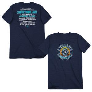 Warren Haynes 2015 Christmas Jam T-Shirt Navy