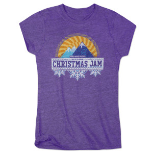 Warren Haynes 2016 Christmas Jam Women's Purple T-Shirt