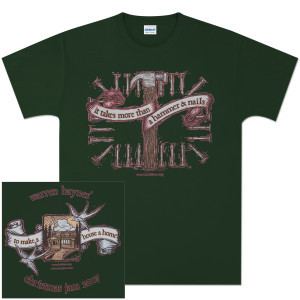 Warren Haynes 2007 Xmas Jam Hammer Forest Green T-Shirt