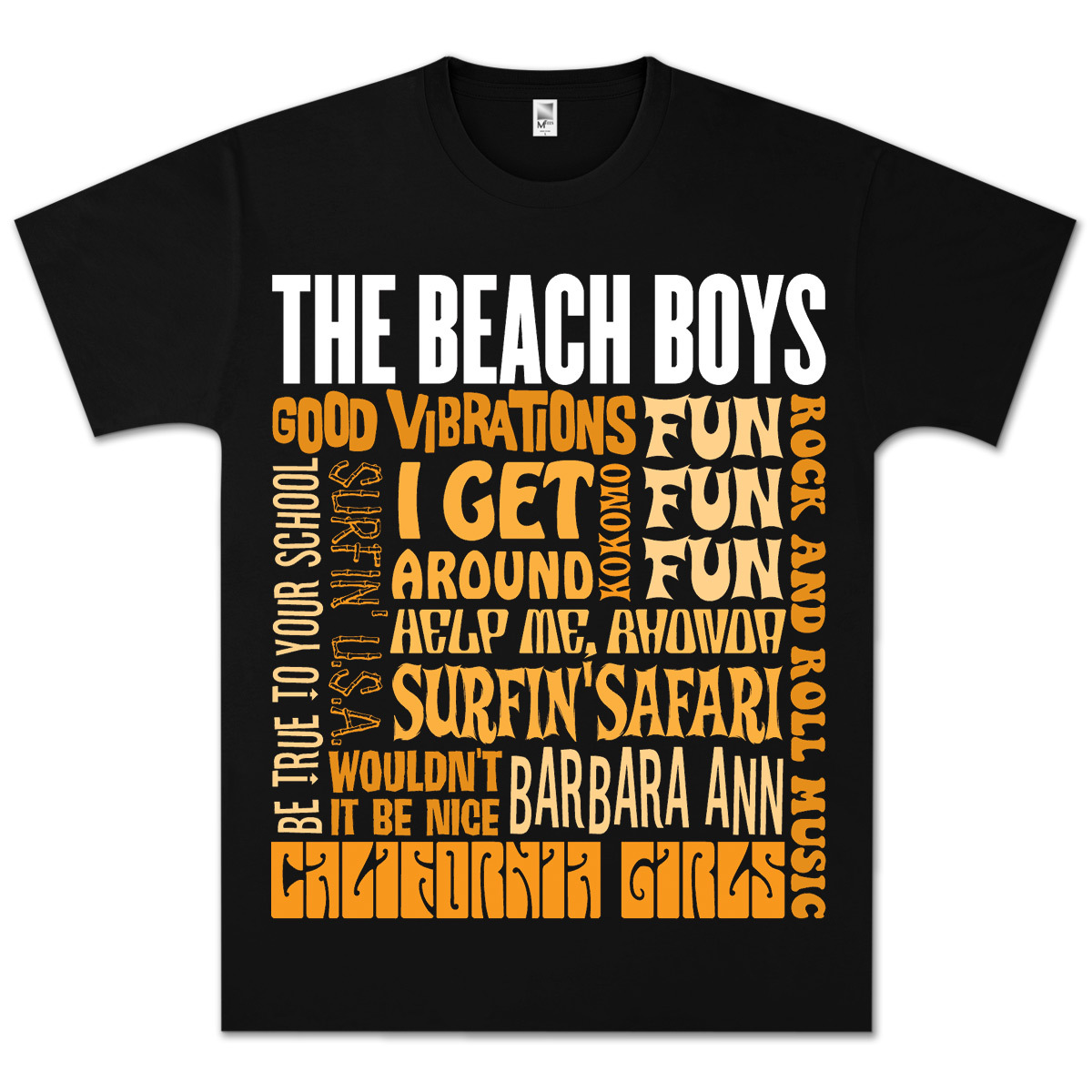 The Beach Boys Best Of Black T-Shirt