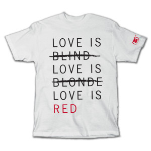 Girl (PRODUCT)<sup>RED</sup> Special Edition Love is RED T-shirt