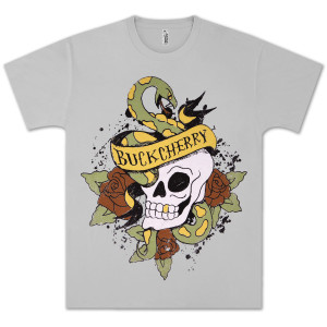 Buckcherry Snake & Skull Logo T-Shirt