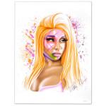 "Nicki Minaj Autographed ""Airbrush"" Lithograph"