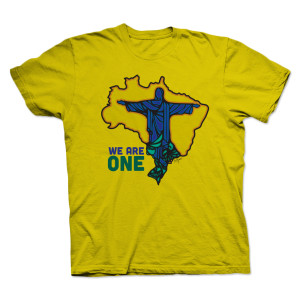 PITBULL WE ARE ONE Men's T-Shirt - Yellow