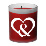 OM&M Red Heart Ampersand Candle - Rose Scent