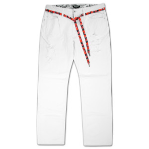 Trukfit White Destroyed Jeans