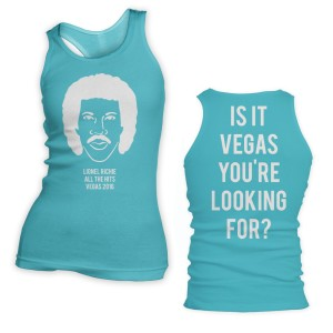 Lionel Richie Is It Vegas You're Looking For Racerback Tank