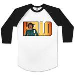 Lionel Richie Hello Lettering 3/4 Sleeve Raglan