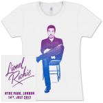 Lionel Richie Hyde Park, London 7/14/2013 Juniors T-Shirt