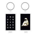Imagine Dragons Stacked Letters Moon Keychain