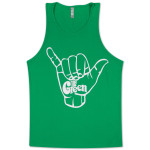 The Green Shaka Logo Unisex Tank Top