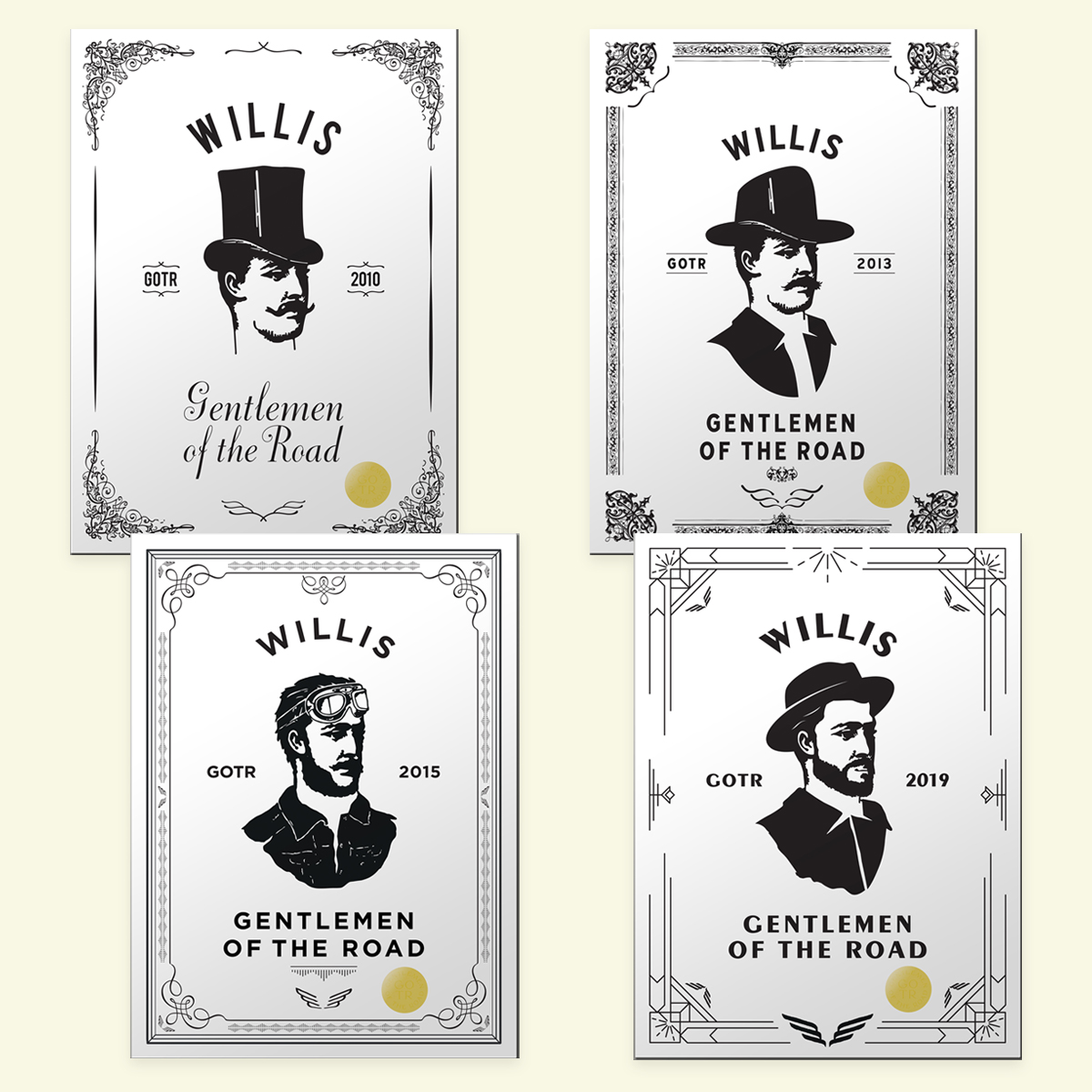 WILLIS ART PRINT SERIES - SET OF 4