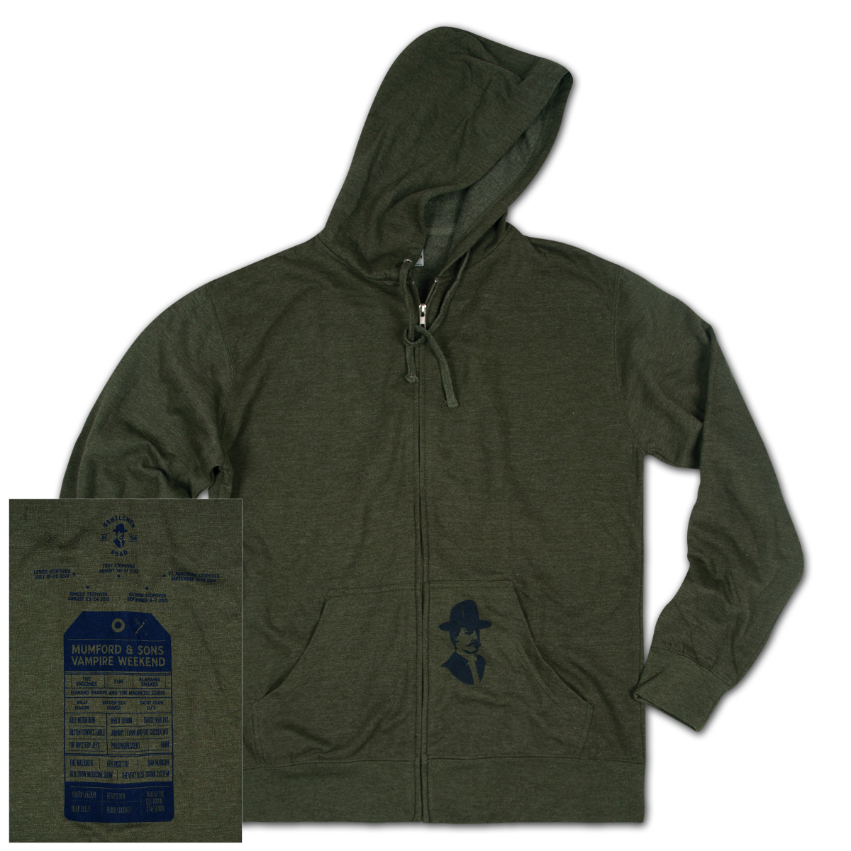 GOTR 2013 Willis Pocket Print Unisex Zip Hoodie