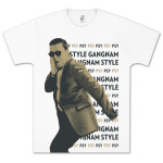 PSY Profile Text Repeat T-Shirt