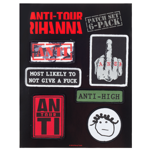 Rihanna Anti Tour Patch Set
