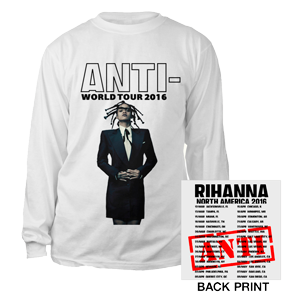 Rihanna Anti-Tour Long Sleeve T-Shirt