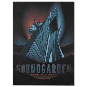 Soundgarden 2013 The Palladium Ballroom May 26, Dallas TX Print