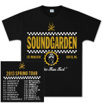 Soundgarden Straight Up Checkers Spring 2013 Tour T-Shirt