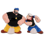 Popeye and Bluto Salt & Pepper Shaker Set