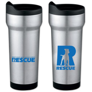 North Shore Animal League Rescue R Logo Travel Mug