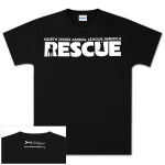 Black North Shore Animal League Rescue T-shirt (white logo)