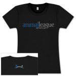 Ladies Black North Shore Animal League T-Shirt