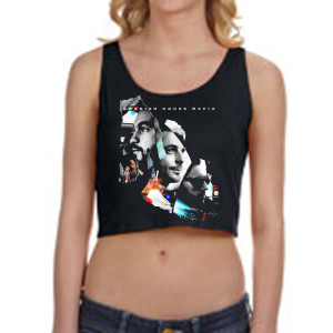 SHM Leave The World Behind Girls Crop Tank