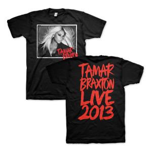 Tamar Braxton B&W Photo T-Shirt